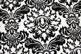 Black And White Damask Curtain 10 Yard Damask Flocking Taffeta Fabric Roll Black U0026 White At Cv