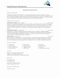 Sample Of Administrative Assistant Resume by Clerical Receptionist Sample Resume Unique Professional