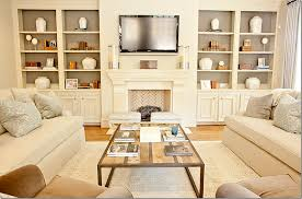 Bookcase Fireplace Designs Apartments Modern Living Room Design With White Sectional Sofa
