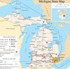 Howell Michigan Map by Michigan State Map A Large Detailed Map Of Michigan State Usa