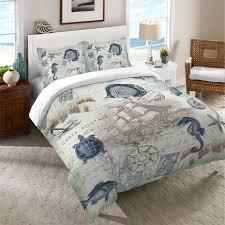 seaside postcard duvet cover nautical bedroom decor nautical
