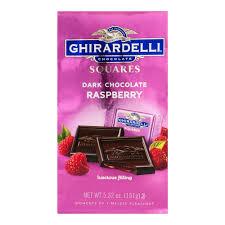 ghirardelli chocolate squares dark u0026 raspberry chocolate 5 32 oz