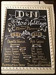 chalkboard program wedding diy wedding chalkboard program according to d