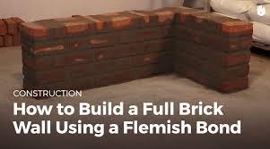 how to build a full brick wall using a flemish bond masonry