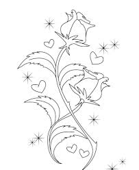 roses valentines day coloring pages valentine coloring pages of