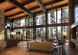 mountain home interiors fabulous mountain modern retreat in the high sierras mountain