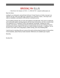 Fax Cover Letter Sample by Best Software Training Cover Letter Examples Livecareer