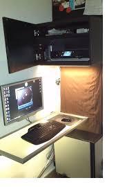 computer work area in small space ikea hackers ikea hackers