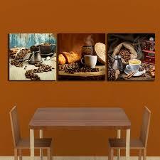 cannelle cuisine 3 pcs café haricots cannelle peintures pour le mur de la cuisine