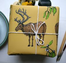 high christmas wrapping paper woodland reindeer christmas wrapping paper by