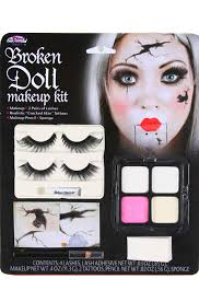 Porcelain Doll Halloween Costumes Broken Doll Face Kit Halloween Dollmakeup Haute