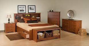 Reclaimed Wood Platform Bed Bedroom Platform Bed With Drawers For Contemporary Bedroom