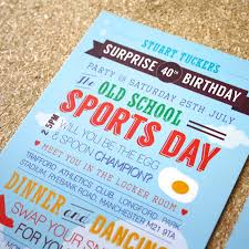 Sport Invitation Card Sports Day Birthday Invitations By Rodo Creative
