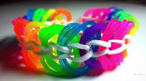 bracelet looms bands images How to make a triple link chain rainbow loom bracelet without a jpg