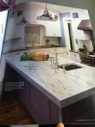 Kitchen Countertop Backsplash Ideas Ex Of Cambria Ella Counter On Island With Dark Base White