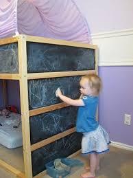 Mini Bunk Beds Ikea Ikea Kura Bed Hack Paint The Blue Panels With Chalkboard