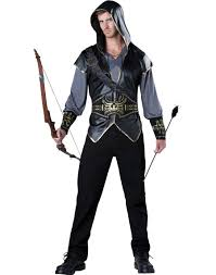 Mens Gangster Halloween Costume Hooded Huntsman Archer Hero Tv Show Mens Halloween Costume