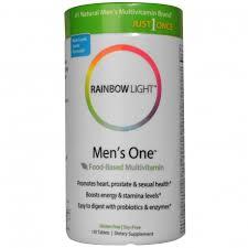 rainbow light vitamins mens just once men s one foods based multi vitamin rainbow light