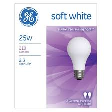 ge 25 watt a19 incandescent light bulb 2 pack soft white target