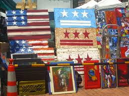 Flea Market Flags Robert Jackson Flag Art Eastern Market Washington Dc