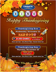 thanksgiving delicious dining with awesome bingo to enjoy at the