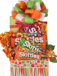 Candy Gift Basket Amazon Com Skittles Extravaganza Candy Gift Basket Gourmet