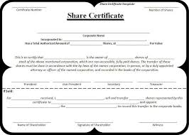 free share certificate template 21 stock certificate templates