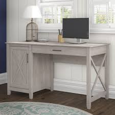 Bush Computer Desk With Hutch by Bush Furniture Key West Collection 54w Single Pedestal Desk In