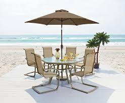 7pc Patio Dining Set - cast aluminum patio dining set with premium sunbrella fabric sale