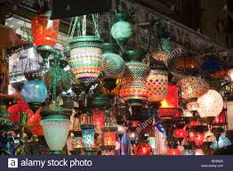 traditional turkish lanterns for sale grand bazaar in istanbul