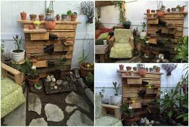 beautiful backyard pallet fountain u2022 1001 pallets