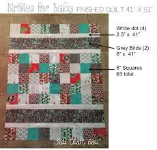 birdies for baby cottage garden baby quilt pattern