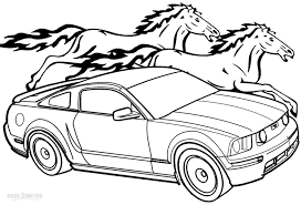 printable mustang coloring pages kids cool2bkids