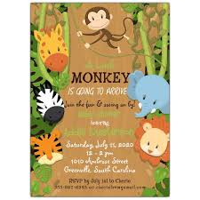 jungle baby shower jungle friends baby shower invitations paperstyle