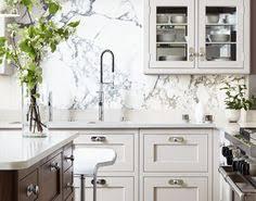 Grey In The Kitchen No  Gray Kitchens Design Design And Kitchens - Marble kitchen backsplash