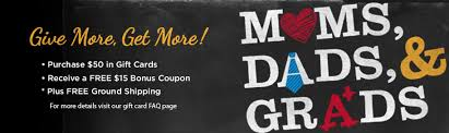 gift card offers bonus gift card offers 2013 for dads grads mission to save
