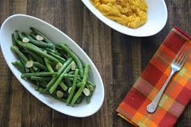 low carb thanksgiving garlic green beans paleo and gluten free
