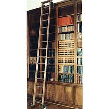 Rolling Ladder Bookcase Demco Com Solid Oak Rolling Library Ladders