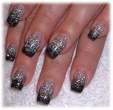 silver and black color nail art glitter designs 2014 trendy mods com