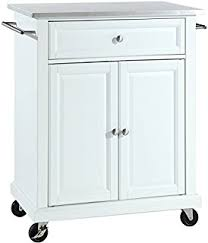 crosley furniture kitchen cart amazon com crosley furniture portable kitchen cart with stainless