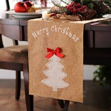 charming christmas table runners kitchen embroidered christmas