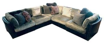 Leather Sofas Aberdeen Aberdeen Chenille Leather Sectional Sofa Ezhandui