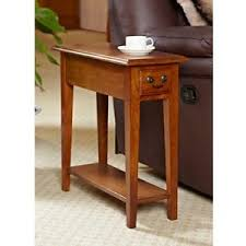 narrow side table wood narrow side table for small spaces with drawer oak accent end