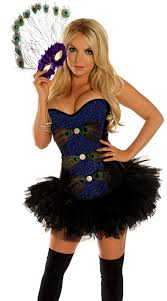 Big Bird Halloween Costumes Peacock Masquerade Corset Costume Peacock Halloween Costume