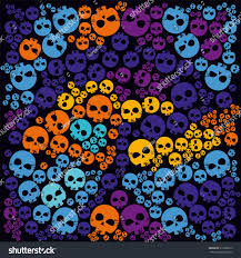 halloween funny decorative pattern ornament background stock