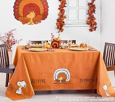 peanuts thanksgiving tablecloth pottery barn
