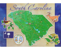 South Carolina Beaches Map Maps Of South Carolina State Collection Of Detailed Maps Of
