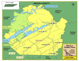 Map Of Tennessee State Parks by Union County Tennessee Century Farms