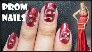 easy prom nail design red formal nail art tutorial decal