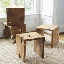 Wood Side Table Rustic Wooden Side Table